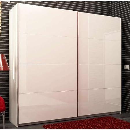 Armadio Ante Scorrevoli 240.Composad Armadio Due Ante Scorrevoli Colore Bianco E Laccato Bianco Amazon It Casa E Cucina