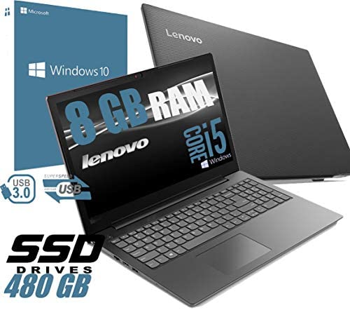 Notebook Lenovo I5 V130 Portatile Display da 15.6″ /Cpu Intel core i5-7200U 2,5Ghz /Ram 8Gb DDR4 /HD SSD 480GB /VGA INTEL HD 620 /Hdmi Dvd Rw Wifi Bluetooth/Windows 10 Home + Open Office