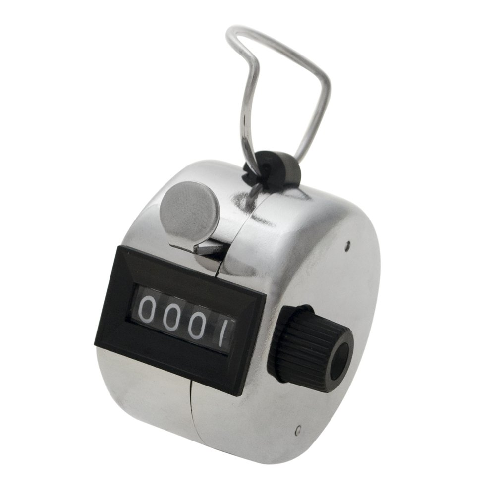 GOGO Wholesale Metalic 4 Digits Number Clicker Hand Tally Counter, Carnival Manual Hand Held Counter
