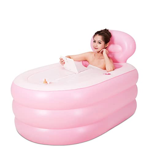 Bañera Hinchable Baño Inflable Engrosado hogar Rectangular niños ...