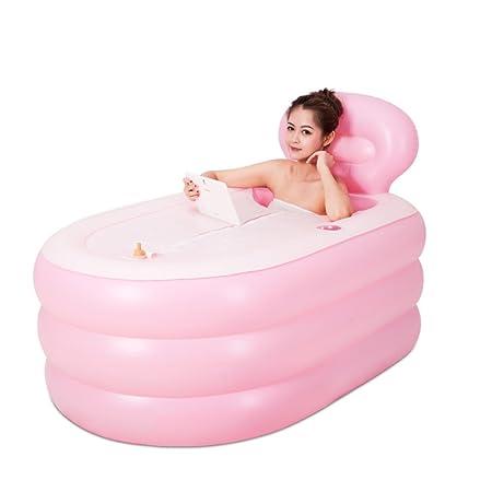 Bañera Hinchable Baño Inflable Engrosado hogar Rectangular ...