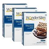 WonderSlim High Protein Wafer Bar - Chocolate (3 Boxes - Save 5%) - Trans Fat Free, Aspartame Free, Cholesterol Free