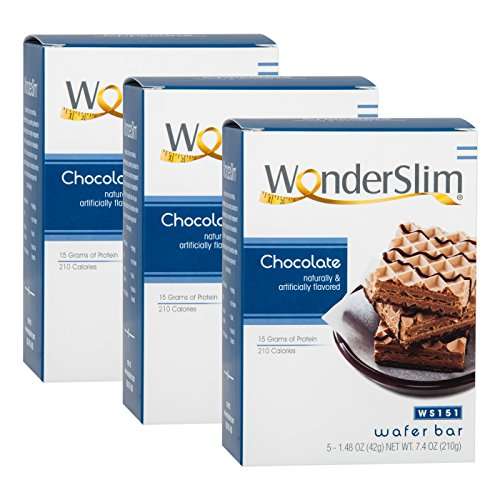 Cheap WonderSlim High Protein Wafer Bar – Chocolate (3 Boxes – Save 5%) – Trans Fat Free, Aspartame Free, Cholesterol Free