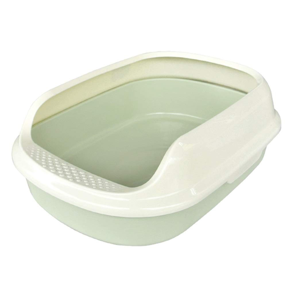 A M 18.5×13.5×6.6in A M 18.5×13.5×6.6in Indoor Cat Toilet, Semi-Closed Hygienic Filter Big Cat Litter Box Detachable Easy Clean Pet Pan Training Loo Supplies (color   A, Size   M 18.5×13.5×6.6in)