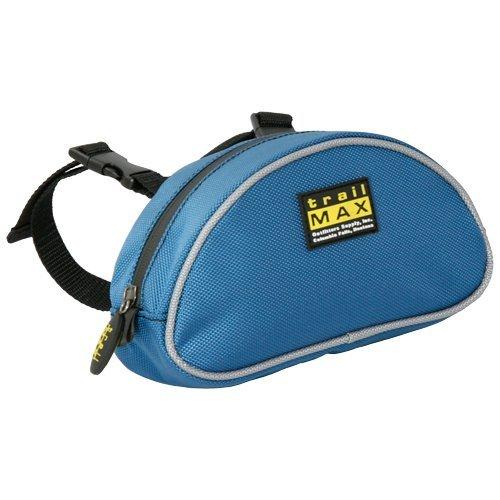 (TrailMax 500 Series Saddle Pommel Pocket Saddle Bag for Horse Trail Riding, 1680-denier Water Resistant Nylon, fits Western & Endurance Saddles, Glacier Blue)