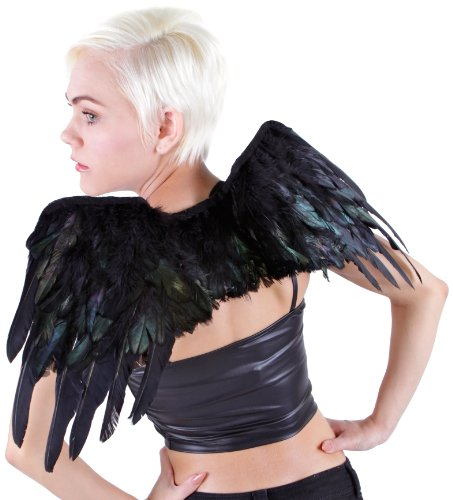 Zucker Feather Products Raven Wing, 12.30-Inch, Black Iridescent (Adult Rooster Costume)
