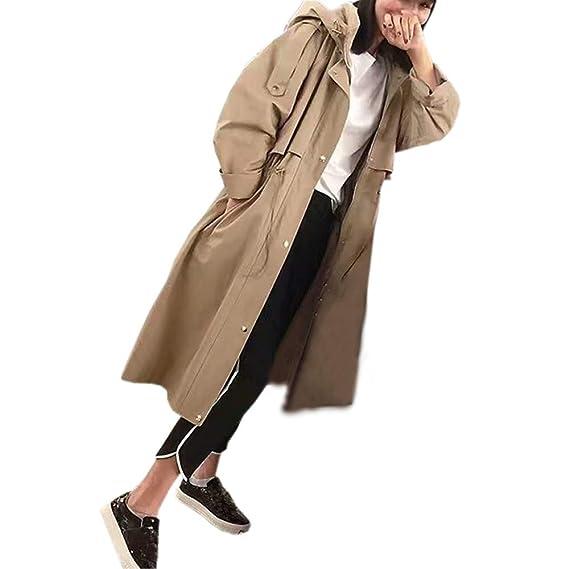 Trench Capuche Femme Manteau Long Femmes Hiver éPais Chaud à La Mode Taille  Veste Poche Fille