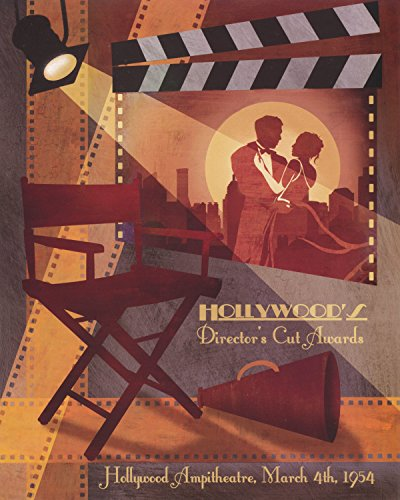 Vintage 1954 Hollywood Director's Cut Awards Cinema Wall Picture Art Print