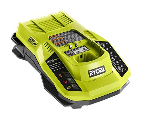 Ryobi P117 One+ 18 Volt Dual Chemistry IntelliPort Lithium Ion and NiCad Battery Charger (Battery Not Included, Charger Only) (Ryobi Lithium Battery 18v Charger)
