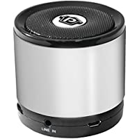 Pyle PBS2SL Bluetooth Mini Speaker with Hands-Free Call Answering (Silver)