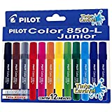 Caneta Hidrografica Color 850L Junior C/12 Cores Pilot