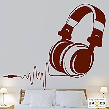 Musik Kopfhörer Beat Herz Kinder Schlafzimmer Coole Wand Kunst Aufkleber  Vinyl Zimmer Schlafzimmer Jungen Mädchen Kinder