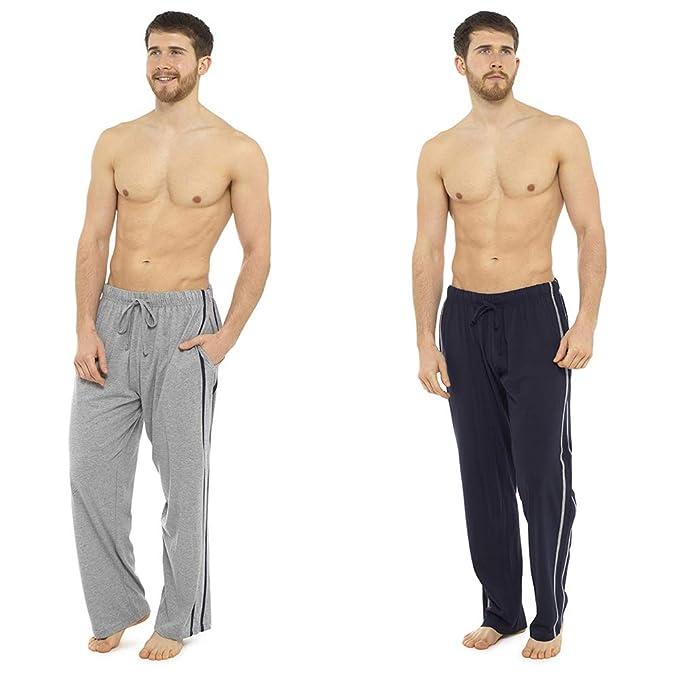 2 PACK Men Poly Cotton Lounge Shorts Jersey Nightwear Pajama Bottoms Soft Pants