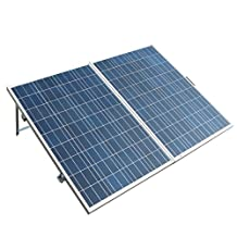 ECO-WORTHY 200 Watt Portable Folding Solar Panel Kits -2x100W Folding PV Solar Panel 12V Battery Charger with15A Charge Controller