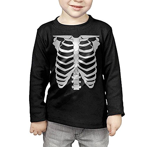 [Halloween Skeleton Glow In The Dark Kids'/Toddlers' Long Sleeve T-Shirt] (Homemade Halloween Costumes For Toddlers Ideas)