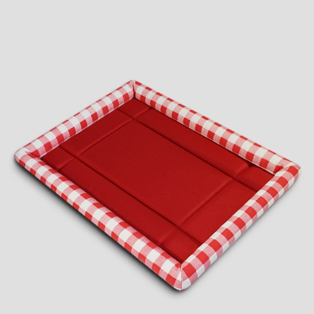 Red 51cm Red 51cm Oxford cloth pet mattress four seasons can wash coral comfortable Dog Kennel ( color   Red , Size   51cm )