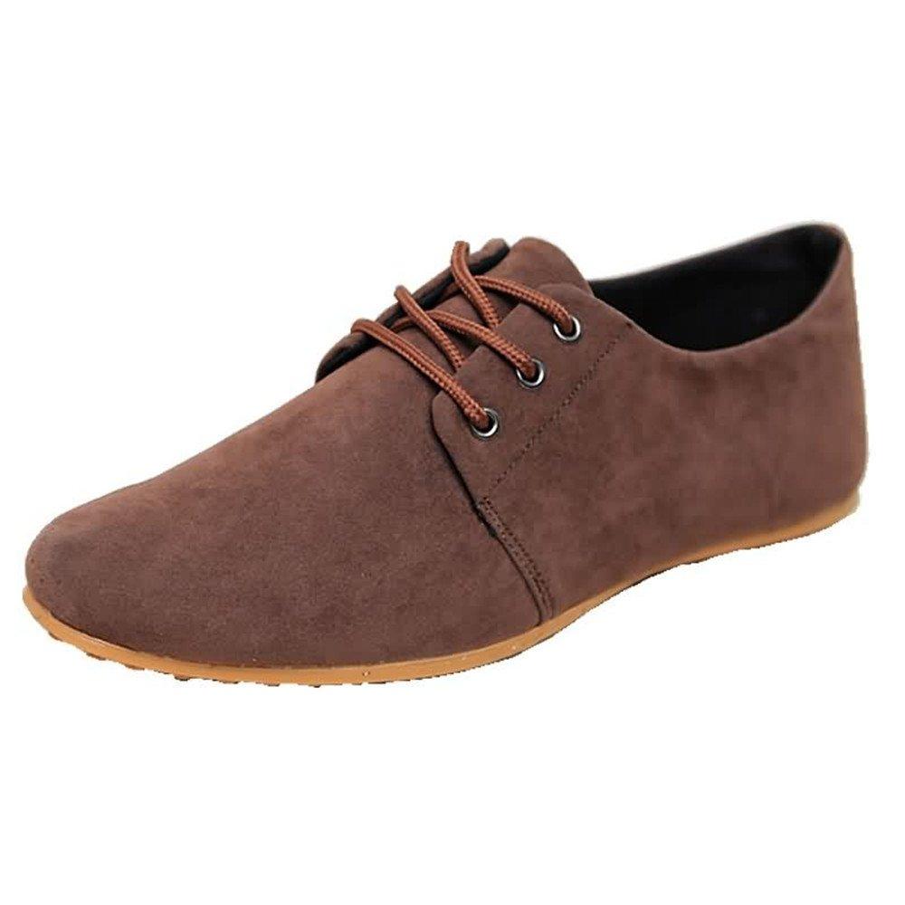 Los Hombres Estilo Informal de conducción mocasín Aprovechar los Zapatos de Moda Cuero Superior con Mocasines Barco 42 EU|Marrón