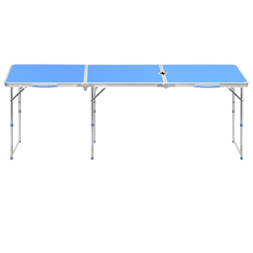 1.8 Mデスク屋外折りたたみテーブルアルミ折りたたみテーブルシンプルなテーブル折りたたみポータブル多機能テーブル ( 設計 : 2 ) B078Z93NJS2
