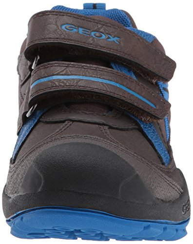 Geox Unisex Adults' J New Savage a Low-Top Sneakers Black/Blue vnTgz3gF8F