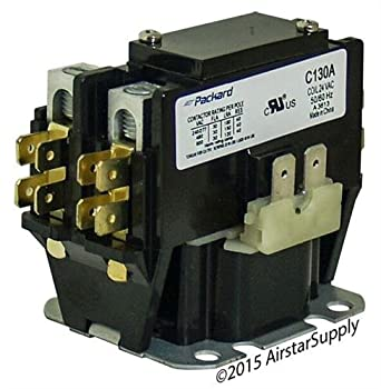 carrier 30 amp 1 pole 24v coil packard replacement contactor c130a industrial