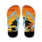 CafePress Wild Animals On African Savannah Sunset - Flip Flops, Funny Thong Sandals, Beach Sandals