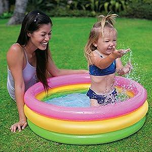 Ozoy Inflatable Kids Bath Tub 3 feet Baby Water Kiddie Pool with Pump