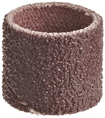 """3M Cloth Band 341D, 1/2"""" Diameter x 1/2"""" Width, 80 Grit, Brown (Pack of 100)"""