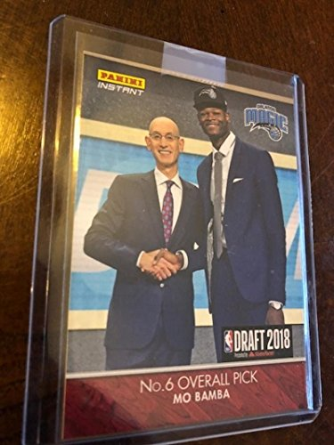 2018-19 Panini Instant Draft Night #DN6 Mo Bamba RC Rookie Card Orlando Magic #1 Pick 1 of Only 301 Produced Sold Out at Panini FIRST NBA CARD EVER in Top Loader straight from Panini Never Touched from Panini Instant Draft Night