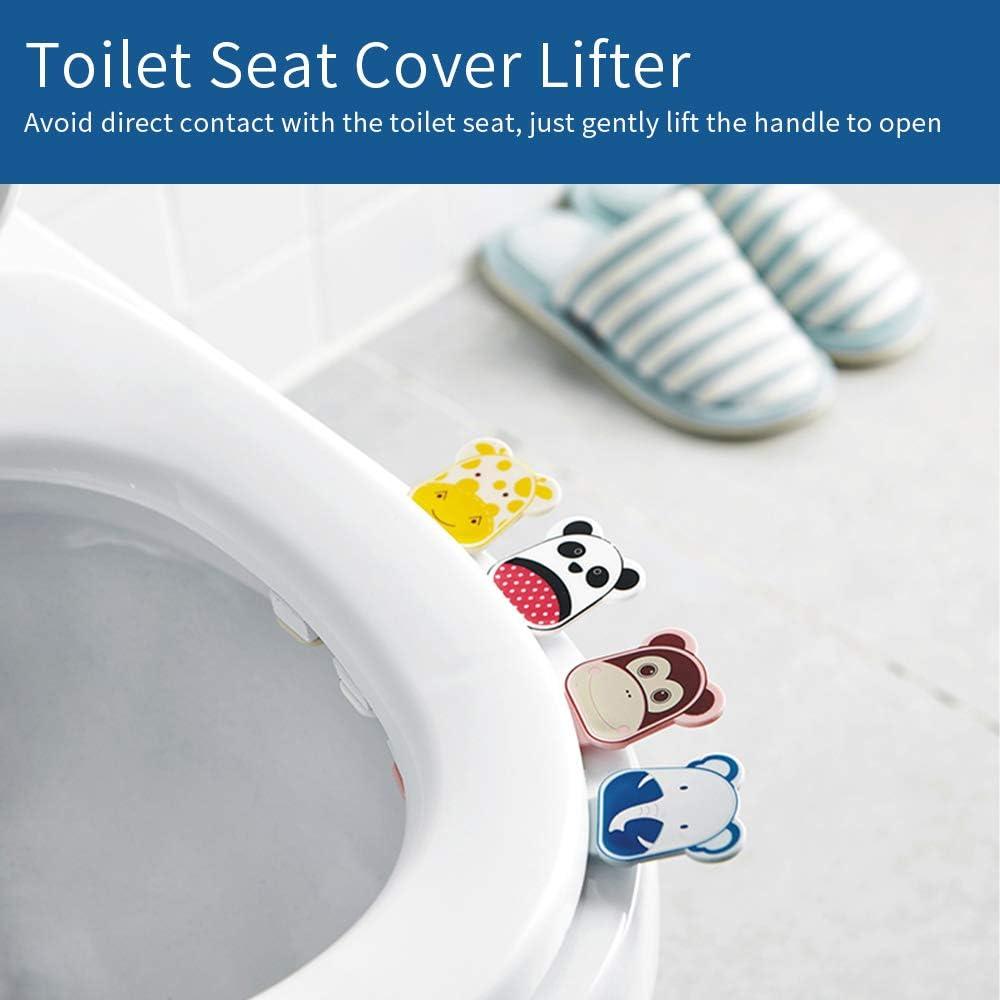 autoadesivo carino cartoni animati prodotti da bagno #MTSTQ blu Sedile del WC coperchio del sedile di sollevamento maniglia bastone evitare di toccare coperchio del WC