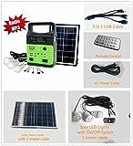10-Watt Solar Generator Portable kit,Power Inverter,Solar Generator System for Home & Camping,9000mAh Rechargeable Battery Pack UPS Power Supply, Included 6 Watt Solar Panels