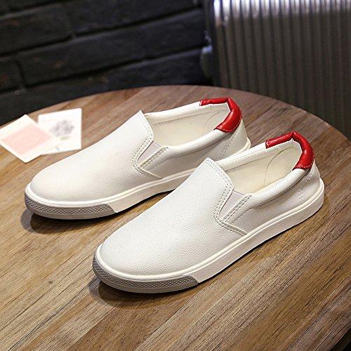 Gimnasio para Running Zapatos Correr Deporte Deportivas para Transpirables Mujer Sneakers Rojo Casual Zapatillas 0wCq11