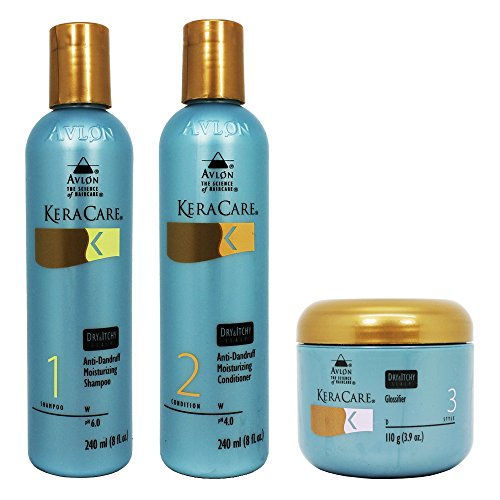 Avlon Keracare Dry Itchy Scalp Moisturizing Shampoo & Conditioner and Glossifier Set