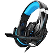 Bengoo Gaming Headset For PS4 Professional 3.5mm PC LED...