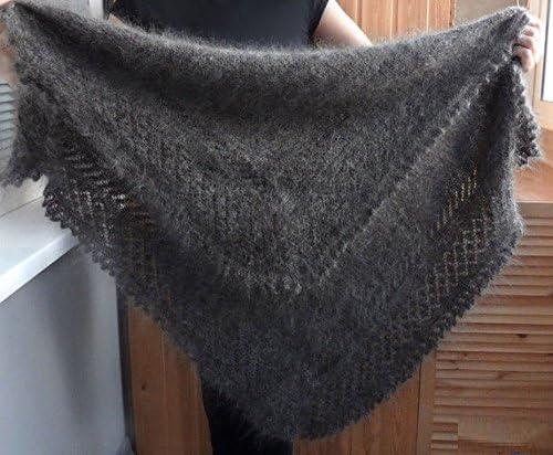 warm gossamer shawls tippet stole Orenburg Scarf grey scarf shawl Orenburg down-hair knitted