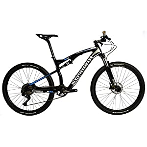 "Stradalli Two 7 Blue Edition. Full Carbon Fiber Dual Suspension Cross Country XC Mountain Bike. 27.5"" MTB 650b Shimano XT M8000 1x11. Suntour XCM 30 Fork. WTB SX19 650b Wheelset."
