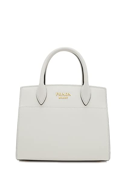 4e085af701f2a Prada White Leather Mini Bibliotheque Crossbody Handbag 1BA071 ...