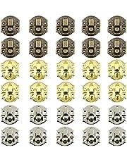 Vintage Hangslot Gesp Hasp Sluiting Van Houten Kist Met Grendel Vintage Stijl Antieke Retro Sluiting Ijzeren Antieke Grendel Met Schroeven Voor Houten Kist Juwelendoos Diy Accessoires 30 Stuks