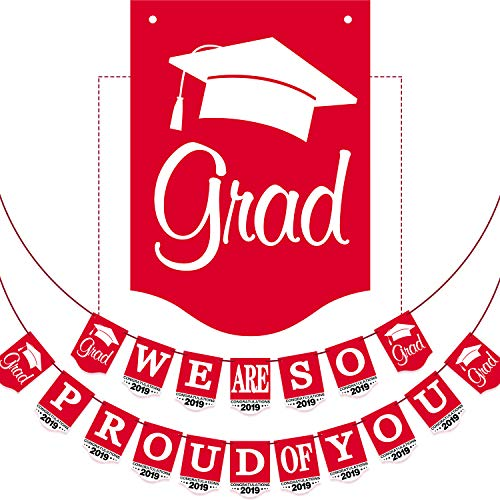 2019 Red Graduation Banner - No DIY Required