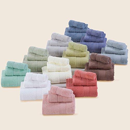 Single Vorraum Handtuch reine Farbe Schal Handtücher Bademäntel Kit Pro-Skin Soft 3 Stück Kit umfasst, Mittelgrau