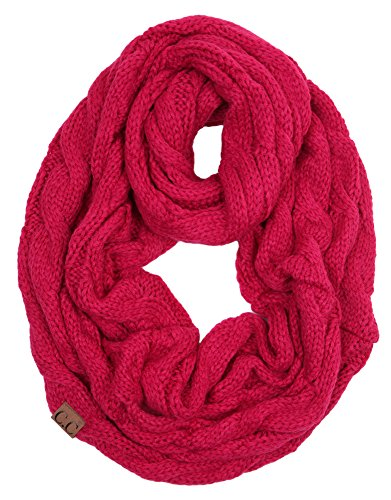 S1-6100-24 Funky Junque Infinity Scarf - Hot Pink