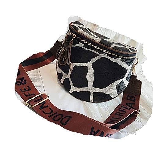 Leopard Print Bucket Woman Bag Pu Leather Crossbody Bags Women Messenger Bags Female Shoulder Handbag,Giraffe pattern,18x10x20cm