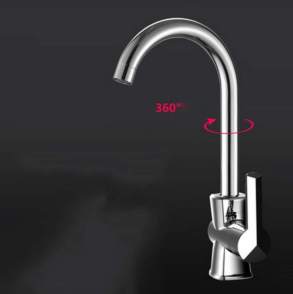 8  DYR Faucet kitchen hot and cold faucet, can turn the faucet, sink faucet (color  5 )