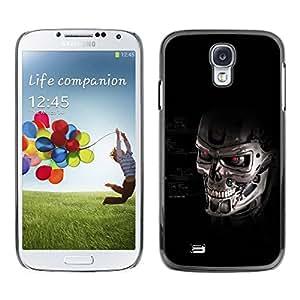PC/Aluminum Funda Carcasa protectora para Samsung Galaxy S4 I9500 Skull Robot / JUSTGO PHONE PROTECTOR
