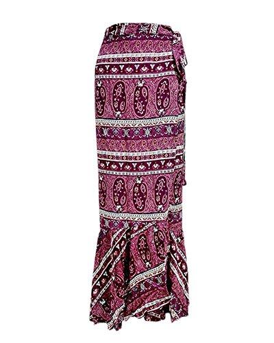 Asymtrique de Tomwell Rouge Maxi Split Haute Jupe Jupe Taille Longue Floral Party Plage t Bohme lgant Femmes Imprim gqYw1F