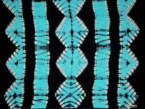 (1WS Womens Jungle Tie Dye Motif Extra Wide Neck Scarf/Sarong in Blue)