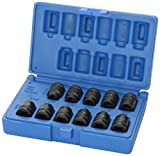 "Grey Pneumatic (1211P) 3/8"" Drive 11-Piece Pipe Plug Socket Set"