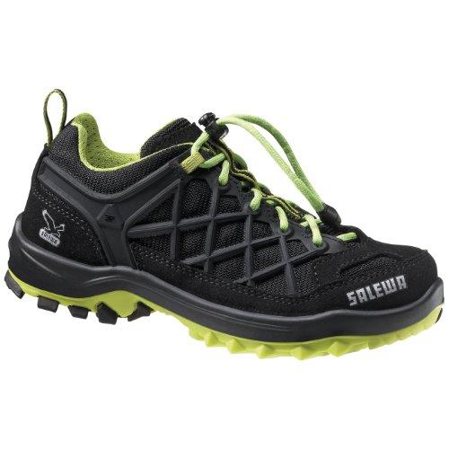 SALEWA Jr Wildfire Waterproof, Zapatillas de Senderismo Unisex Niños Negro (Negro/Emerald 0906)