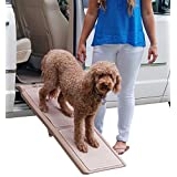 Pet Gear Short Bi-Fold Carpeted Pet Ramp for Cats And Dogs, Tan