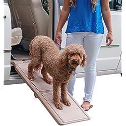 Pet Gear Indoor Bi-Fold Half Ramp for Cats and Dogs - Tan