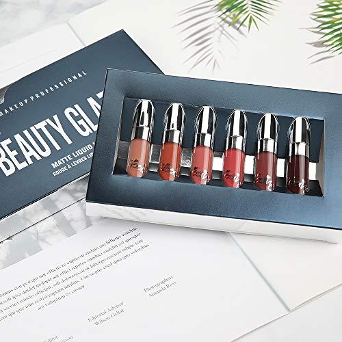 Beauty Glazed 6 PCS Matte Liquid Lipsticks Waterproof Long Lasting Holiday Kit Liquid Lipgloss Beauty Cosmetics Set
